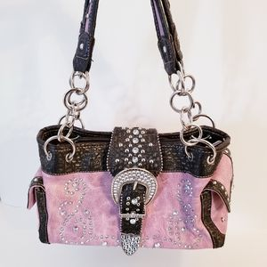 Montana West Pink & Brown Concealed Carry Bag